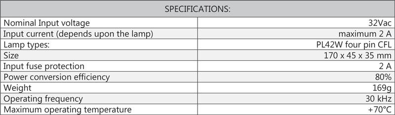 Cosine Developments 32Vac Supreme specifications