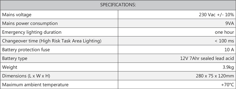 Cosine Developments ELS Spot specifications