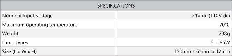 Cosine Developments DC Inverters LED 85W 24V specifications