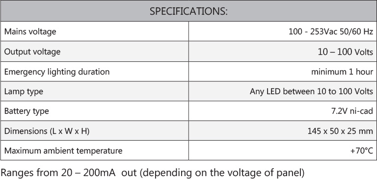 CD LED Orbit specifications