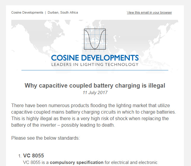 Cosine Developments Emailer