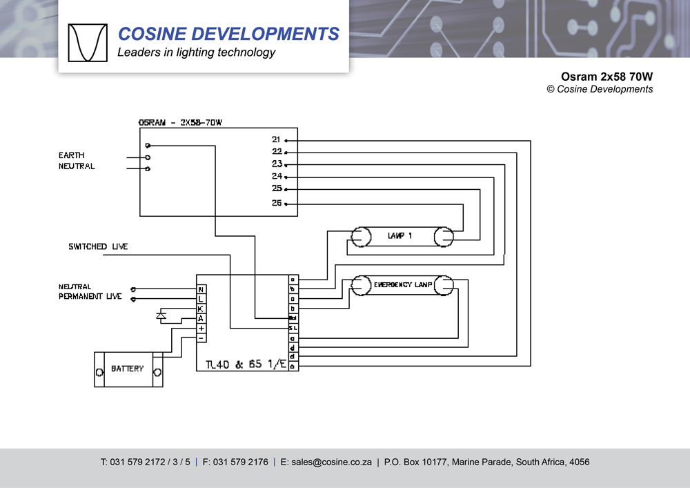 wiring-diagrams-osram-2x58-70w  Lamp Cfl Wiring Diagram on